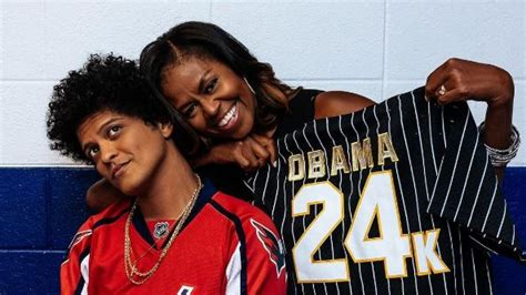 Michelle Obama Gets Surprise Gift at Bruno Mars' Concert