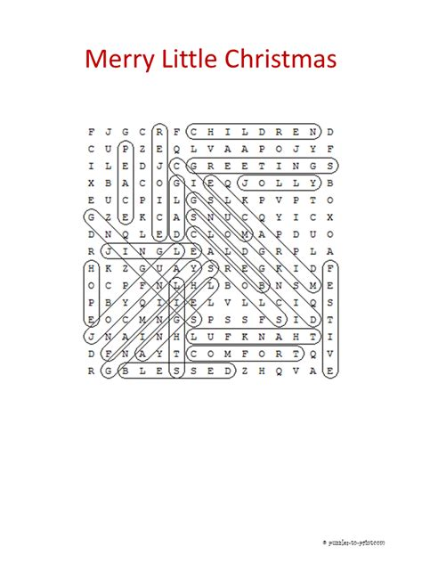 A Merry Little Word Search
