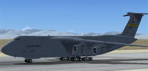 Lockheed C5 Galaxy With Updated Panels for FSX