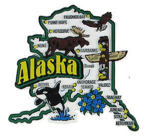 Alaska USA Map State Magnet: Magnetic Maps of all 50