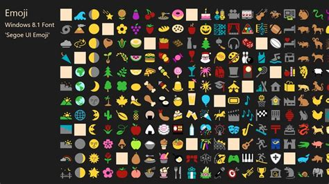 Emoji Font for Windows 8 and 8