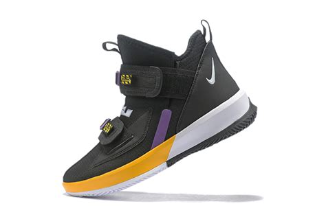 Nike LeBron Soldier 13 'Lakers' Black Yellow Purple For