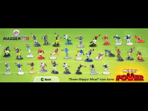 McDonalds Happy Meal Toy - MADDEN NFL 15 mini toy figures
