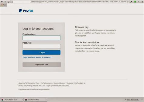 Paypal phishing / Scampage Paypal 2015 true  - Black